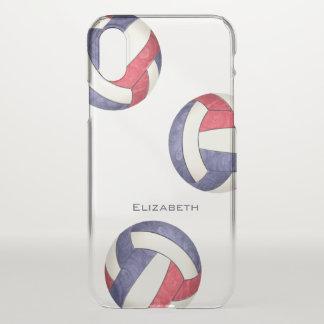 der abstrakte Volleyball der roten weißen blauen iPhone X Hülle