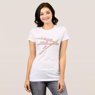 Der abstrakten Frauen sehen den Weltjersey-T - T-Shirt