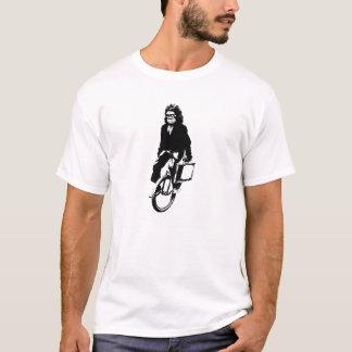 Der Affe der Männer auf einem Unicycle-Shirt T-Shirt
