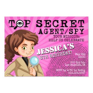 Der Agent-Spions-Geburtstags-Party Einladung des