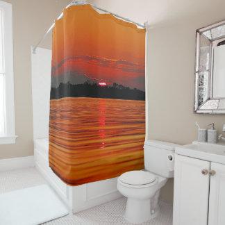 Der Amazonas-Sonnenuntergang-Duschvorhang Duschvorhang
