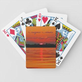 Der Amazonas-Sonnenuntergang-Spielkarten Bicycle Spielkarten