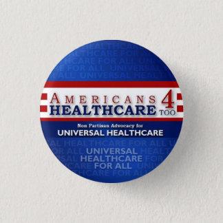Der Amerikaner-4 des Gesundheitswesens Knopf auch Runder Button 2,5 Cm