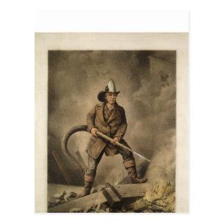 Der amerikanische Feuerwehrmann: Das feindliche Postkarte