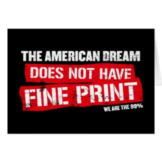 Der amerikanische Traum hat nicht Klein Gedruckte Grußkarte