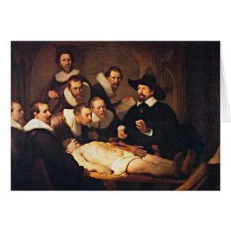 Der Anatomie-Vortrag durch Rembrandt Karte