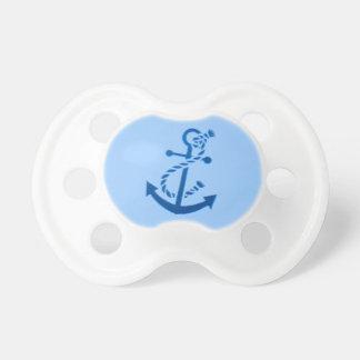Der Anker-Seemarinethemenorientiertes des blauen Schnuller