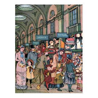 """""""Der arcade-"""" Vintage Illustration Postkarte"""