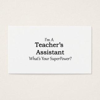 Der Assistent des Lehrers Visitenkarte