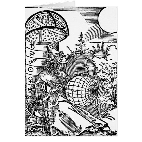 Der Astronom Grußkarte