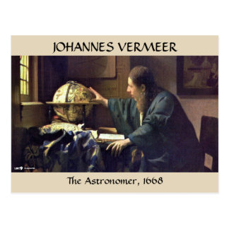 Der ASTRONOM, Johannes Vermeer, 1668 Postkarte