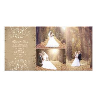Der Atem-danken elegantes Hochzeits-Foto des Bild Karte