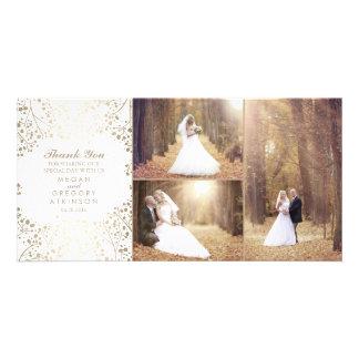 Der Atem-danken elegantes Hochzeits-Foto des Karte