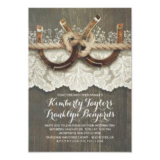 Der Atem-rustikale Hochzeit des 12,7 X 17,8 Cm Einladungskarte