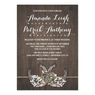 Der Atem-rustikale Hochzeits-Einladungen des 12,7 X 17,8 Cm Einladungskarte