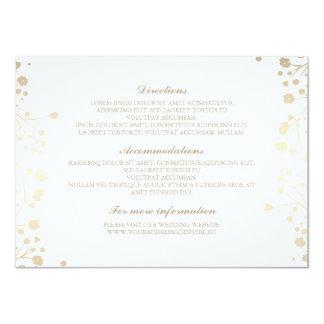 Der Atem-weiße Hochzeits-Details des Babys - 11,4 X 15,9 Cm Einladungskarte
