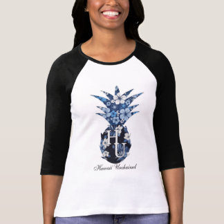 Der Baseball-T-Stück der Blumenlogo-Frauen T-Shirt