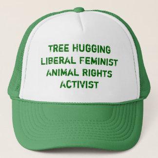 Der Baum, der liberale feministische Tierrechte Truckerkappe