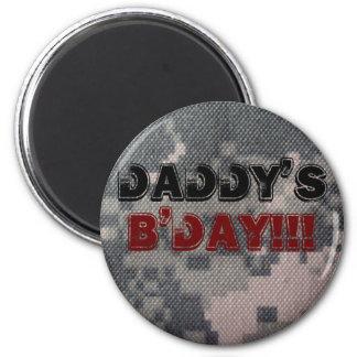 Der B'Day des Vatis!!! Runder Magnet 5,1 Cm