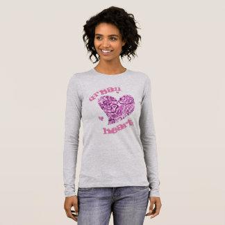 Der Bella der städtischen Frauen+Leinwand-langer Langarm T-Shirt