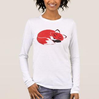 Der Bella schläfriger Fox-Frauen langes Langarm T-Shirt