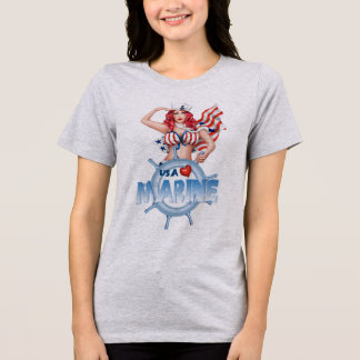 Der Bella SEXY MARINEShirt Frauen+Leinwand T-Shirt