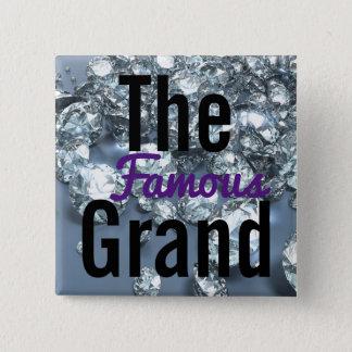 Der berühmte großartige Party-Knopf Quadratischer Button 5,1 Cm