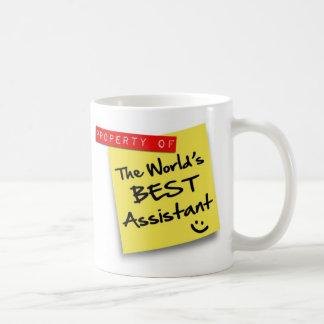 Der beste behilfliche Posten der Welt Tasse