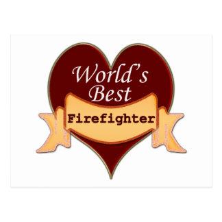 Der beste Feuerwehrmann der Welt Postkarte