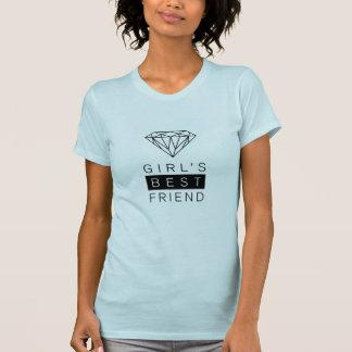 Der beste Freund-Diamant-T - Shirt des Mädchens
