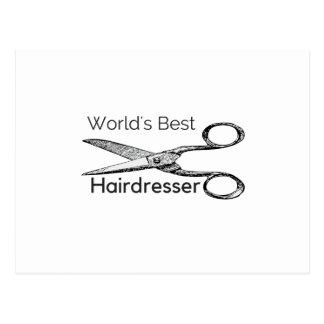 Der beste Friseur der Welt Postkarte
