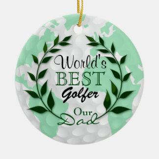 Der beste Golfspieler der Welt - unser Text des Keramik Ornament