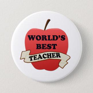 Der beste Lehrer der Welt Runder Button 7,6 Cm