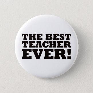 Der beste Lehrer überhaupt Runder Button 5,7 Cm