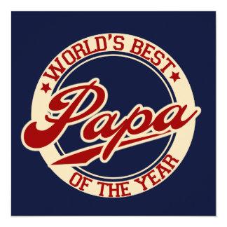 Der beste Papa der Welt Quadratische 13,3 Cm Einladungskarte