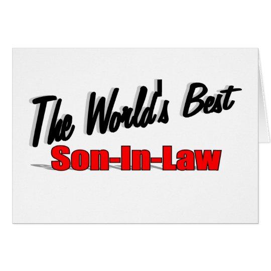 Der beste Schwiegersohn der Welt Grußkarte