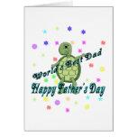 Der beste Vati-der glückliche der Welt Vatertag Grußkarte