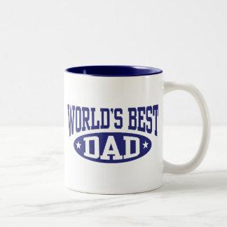 Der beste Vati der Welt Zweifarbige Tasse