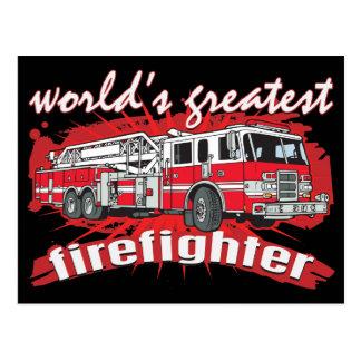 Der bestste Feuerwehrmann der Welt Postkarte