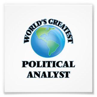 Der bestste politische Analytiker der Welt Photo Drucke