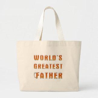 Der bestste Vater 2 der Welt Jumbo Stoffbeutel