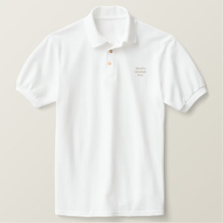 Der bestste Vati der Welt Besticktes Polo Shirt