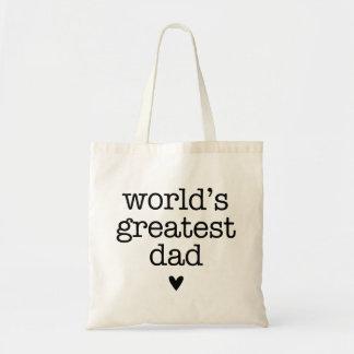 Der bestste Vati der Welt mit dem Vatertag Herz- Budget Stoffbeutel