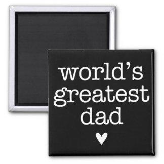 Der bestste Vati der Welt mit dem Vatertag Herz- Magnets