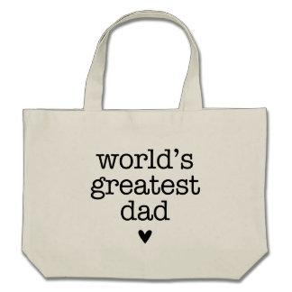 Der bestste Vati der Welt mit dem Vatertag Herz- Leinentasche