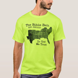 Der Bibel-Gurt im Gott vertrauen wir christlichem T-Shirt
