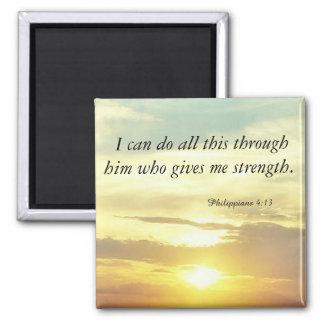 der Bibelphilippians-4:13magnet Quadratischer Magnet