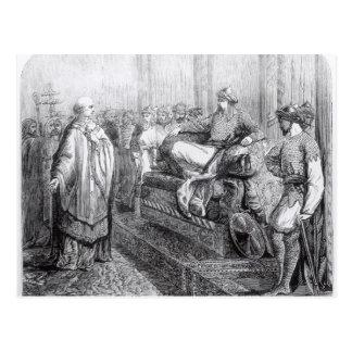 Der Bischof von Salisbury vor Saladin Postkarte