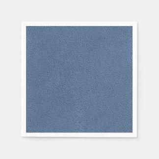 Der Blick von gemütlich Slate blaue Serviette
