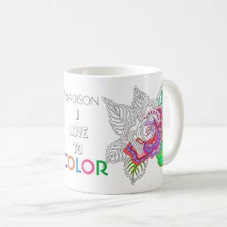 Der Blumen-020617 Liebe Erwachsen-Farbton-des Kaffeetasse
